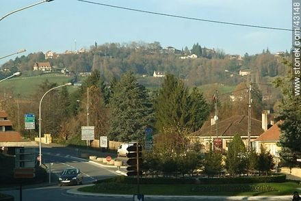 Roundabout routes and D6 and D704. Sarlat-la-Caneda. - Region of Aquitaine - FRANCE. Photo #43148