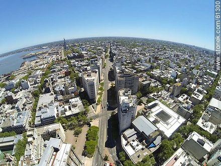 Aerial photo of Avenida del Libertador - Photos of downtown, URUGUAY. Image #61300