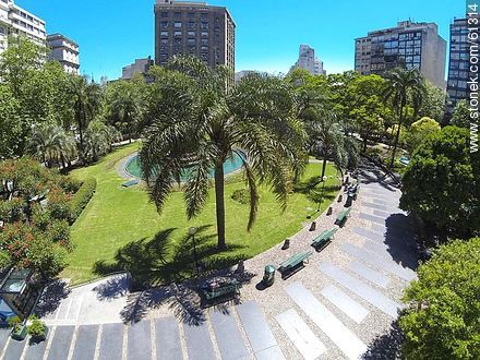 Aerial photo of the Plaza Fabini - Photos of downtown, URUGUAY. Image #61314