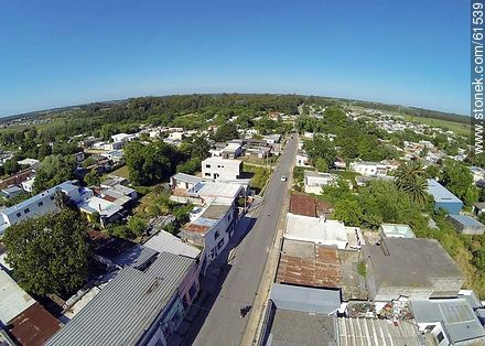 Aerial photo of the town of Sauce - Photos of the town of Sauce, URUGUAY. Image #61539