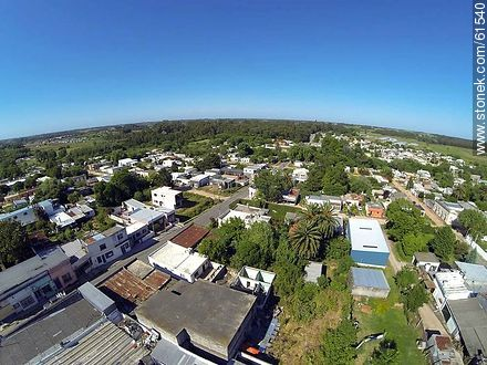 Aerial photo of the town of Sauce - Photos of the town of Sauce, URUGUAY. Image #61540