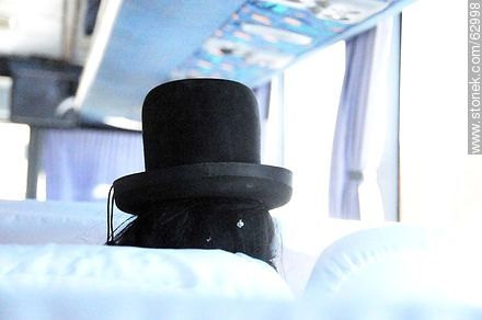 Black bowler hat, classic highland hat - Variety photos of Bolivia, Others in SOUTH AMERICA. Image #62998
