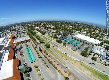 Aerial photo of Avenida Italia, Portones Shopping and Tienda Inglesa - Photos of Carrasco quarter, URUGUAY. Image #63375