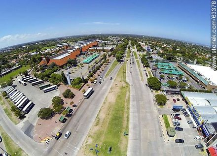 Aerial photo of Avenida Italia, Portones Shopping and Tienda Inglesa - Photos of Carrasco quarter, URUGUAY. Image #63378