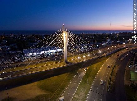 Aerial view of the Bridge of the Americas - Photos of Carrasco quarter, URUGUAY. Image #65621