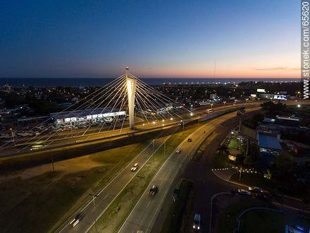 Aerial view of the Bridge of the Americas - Department of Canelones - URUGUAY. Photo #65620