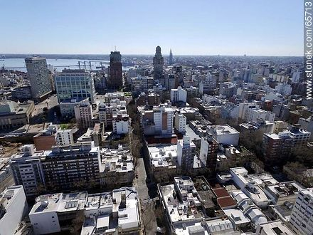 Aerial view of Downtown from Florida Street - Photos of downtown, URUGUAY. Image #65713