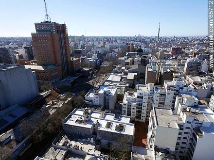 Aerial view of Soriano street - Photos of downtown, URUGUAY. Image #65712