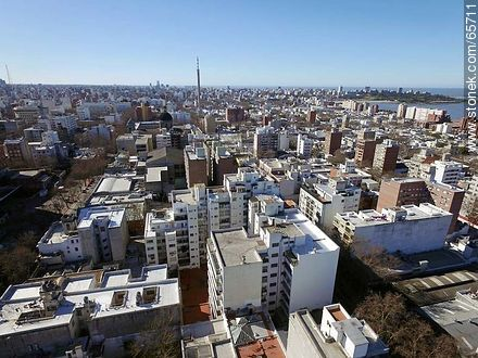 Aerial view of  the quarter Centro - Photos of downtown, URUGUAY. Image #65711