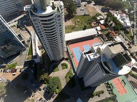 Aerial view of the Nautical Towers - Photos of Buceo quarter, URUGUAY. Image #65887