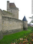 Foto #30192 - Wall and towers of Carcassonne
