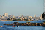 Photo #32001 - Breakwater in the bay of Montevideo