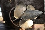 Photo #46664 - Ship propeller repaired in dry dock