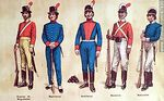 Photo #47930 - Military uniforms in South America. XIX century.