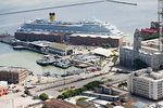 Photo #58261 - Costa Fortuna Cruise in the port of Montevideo. Buquebus terminal. Navy headquarters
