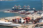 Photo #58255 - Terminal Cuenca del Plata cranes in operation unloading containers from a freighter Maersk Line