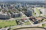 Photo #58334 - Aerial view of the Rambla Rep. of Peru and Luis Alberto de Herrera. Club Banco Comercial, Panamericano building.