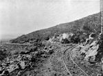 Photo #59523 - Construction materials company. Locomotive maneuvering a quarry company, 1909
