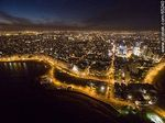 Photo #65240 - Nocturnal aerial photo of the Rep. of Peru and Armenian Ramblas, buildings and towers