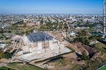 Photo #65776 - Aerial photo of the construction of the Antel Arena. May 2017
