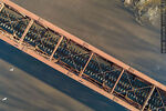 Foto #68543 - Aerial view of the railroad bridge that crosses the Santa Lucía River. Border between Canelones and Florida