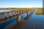 Foto #68554 - Aerial view of the railroad bridge that crosses the Santa Lucía River. Border between Canelones and Florida