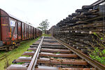 Foto #69719 - Collection of old rails and wooden sleepers