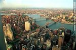 Vistas desde el piso 107 de la torre 2 del WTC. Brooklyn y Manhattan Bridge, - Foto #1868